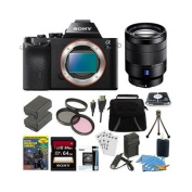 Sony Alpha a7S ILCE7S/B ILCE7S ILCE7SB Camera with SEL 24-70mm Full Frame Lens Bundle with 64GB SDHC Card, Spare Battery, Rapid AC/DC Charger, HDMI Cable, Case, LCD Screen Protectors, Photography DVD and More