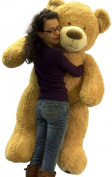 1.5m Very Big Smiling Teddy Bear Five Feet Tall Cream Colour with Bigfoot Paws Giant Stuffed Animal Bear