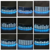 Signstek Sound Music Beat Activated Car Stickers Equaliser Glow Blue LED Light Audio Voice Rhythm Lamp