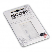 NOOSY 3 X Nano SIM to Micro/Standard Card Adaptors Adapter Tray Holder Bundle for Newest Apple iPhone 5 4S 4G 3GS 3G