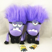 "New Cartoon 3d Despicable Me2 Movie Jorge Stewart Dave Plush Doll 1pstoy Purple Evil Minions 12"" Inch 32cm Nwt With Tags"