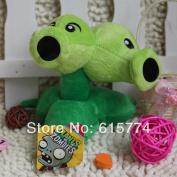 New 15cm Double Pea Striker Zombie Figures Of Plants Vs Zombies, Zombie Plush Toy Doll