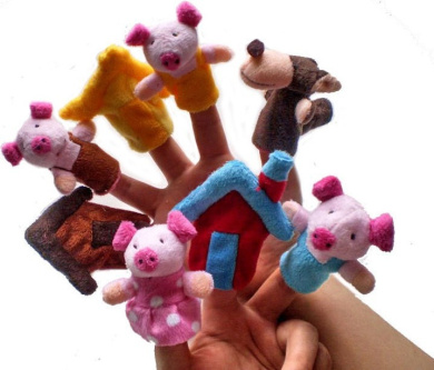 Three Little Pigs -4Pcs