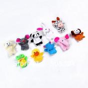10pcs Cartoon Animal Finger Puppet,finger Toy,finger Doll,baby Dolls,baby Toys,animal Doll8523