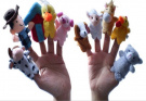 [old Macdonald Had A Farm] 10pcs/lot Finger Puppets Toy Nursery Rhyme Toys