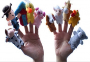 [old Macdonald Had A Farm] 10pcs/lot Finger Puppets Toy Nursery Rhyme Toys