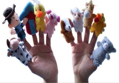 old Macdonald Had A Farm Finger Puppets -10Pcs
