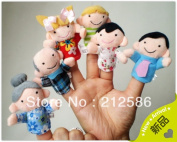 6pcs/set Baby Plush Finger Puppet Toy,christmas Family Finger Puppets/kids Finger Hand Puppet Toy