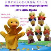 6pcs/set, Nursery Rhyme Finger Puppets - Five Little Ducks, Plush Finger Puppets, Educational Toys,