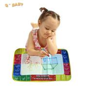 45x29cm 4 Colour Water Drawing Toys Mat Aquadoodle Mat&1 Magic Pen/water Drawing Board/baby Play Mat