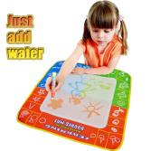 49x48cm 4 Colour Water Drawing Toys Mat Aquadoodle Mat&1 Magic Pen/water Drawing Board/baby Play Mat