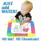 29x19cm 4 Colour Water Drawing Toys Mat Aquadoodle Mat&1 Magic Pen/water Drawing Board/baby Play Mat