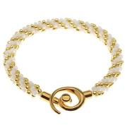 Spiral Beaded Kumihimo Bracelet (Gold/Wht) - Exclusive Beadaholique Jewellery Kit