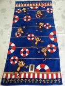 "Aloha 100% Cotton Beach Towel ""Life Saver"", Blue/Multicoloured"