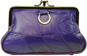 Genuine Leather Change Purse with Clasp Closure By Marshal
