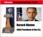 President Barack Obama Speech Statue 3d Paper Craft Models World Famous People Paper Scale Model Toys For Children Adults' Hobby