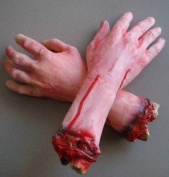 New Severed Bloody Fake Lifesize Arm Hand Halloween Prop