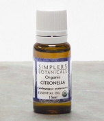 Essential Oil Citronella Organic Simplers Botanicals 15 ml Liquid