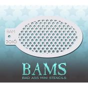 Bad Ass Tiny Stars Mini Stencil BAM2016