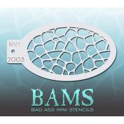 Bad Ass Turtle Shell Mini Stencil BAM2003