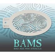 Bad Ass Curvy Curls Mini Stencil BAM3011