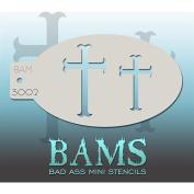 Bad Ass Crosses Mini Stencil BAM3002