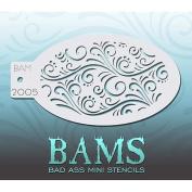 Bad Ass Swirls & Dots Mini Stencil BAM2005