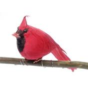 2 Feathered Red Cardinal Birds