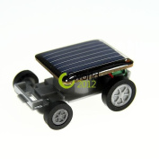 Lovely Mini Solar Energy Powered Child Toy Car Racing Gadget Blackkid Solar Car Racer Moving Toy