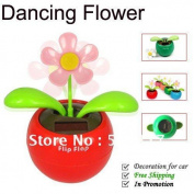Creative Solar Power Dancing Flower Flip Flap Swing Flower For Car