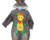 2 Piece Winter Outfit with Padded Jacket & Shortalls 2t
