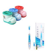 (Random Colour) Cute Multifunctional Boots Toothbrush Holder Toothpaste Squeezer