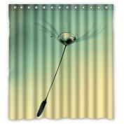 Popular Dandelion Shower Curtain Polyester Fabric Waterproof Shower Curtain ,170cm x 180cm