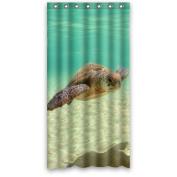 Hipster Sea World bath curtain,Sea turtle Polyester Fabric Waterproof Shower Curtains 90cm x 180cm