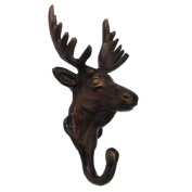 Rustic Cast Iron Deer Elk Doe Coat Hook