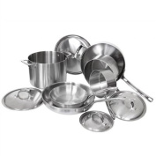 Viking 3-Ply 4513-2S10 10 Piece Cookware Set, Silver