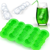 Silicone Green Caterpillar Ice Cube Tray DIY Mould Chocolate Jelly Mould