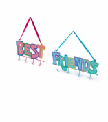Best Friends Glitter Hanging Jewellery Holders