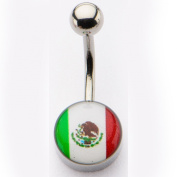 Inox World Cup Mexico Stainless Steel Belly Button Ring