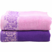 Moolecole® 2-pack Bamboo Towels Super Absorbent Hand Towels Face Towels Antimicrobial Towel