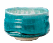 Mino Ware Turquoise Blue Matcha Bowl Made in Japan