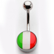 Inox World Cup Italy Stainless Steel Belly Button Ring