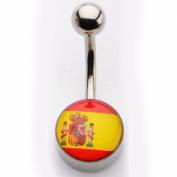 Inox World Cup Spain Stainless Steel Belly Button Ring