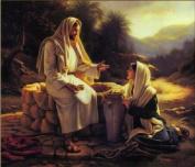 Diy home decor digital canvas oil painting by number kits Saviour Jesus 16*50cm .