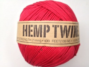 Red Hemp Twine Cord 1mm 143yd 130m 430ft DIY