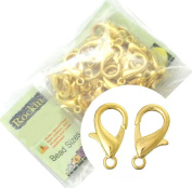 48 Gold Plated Lobster Claw Jewellery Findings Clasps 12x21mm,