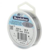 Beadalon 49-Strand Bead Stringing Wire, 0.06cm , Bright, 9.1m