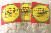 Cotton Wicks Round 14grams, Approx. 70 Wicks