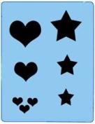 StencilEyes - QuickEZ/Hearts/Stars Group Design Stencil #24