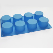 Round Cylinder Soap Cupcake Silicone Mould